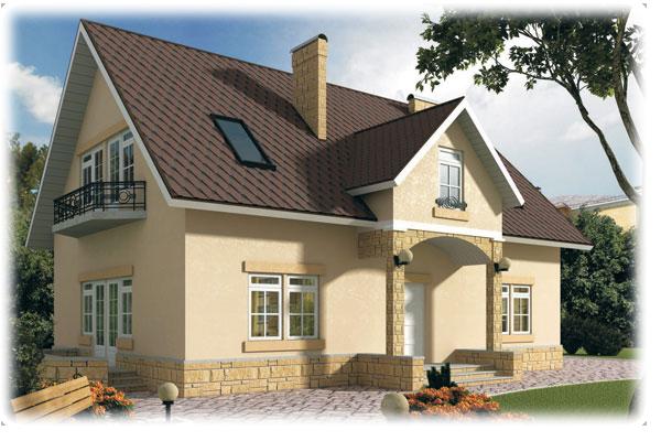 Отделка фасада фундамента частного дома